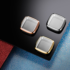 rose gold, gold and silver color cases for Fitbti Versa 2