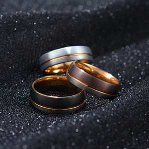 7mm 8mm brown tungsten ring
