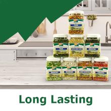 Long lasting, extended shelf life
