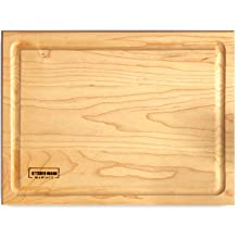 maple wood cutting board walnut hardwood kitchen chopping block thick wooden groove durable