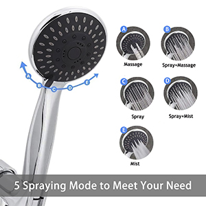 shower head with handheld