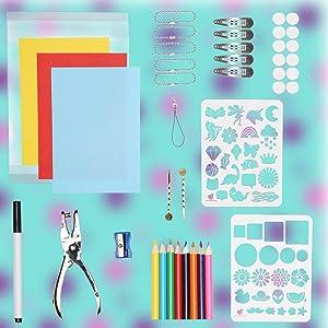 Shrinky craft Shrink art shrinky sheet shrink plastic gifts for girls gifts for kids bake shrink