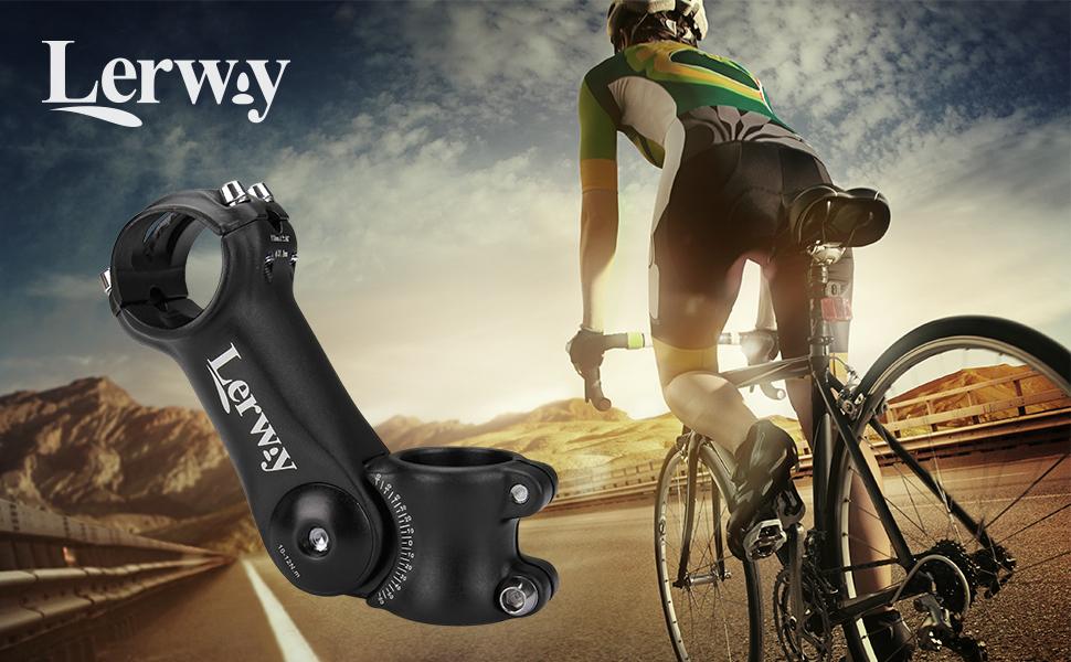LERWAY Vástago de Manillar para Bicicletas Potencia Elevador de Manillar Accesorios 0~60° Ajustable MTB Bicicletas Adaptador de Manillar Componentes de Aleación de Aluminio (31.8mm): Amazon.es: Deportes y aire libre