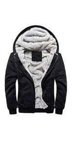Casual Zip Up Sherpa Fleece Lined Hoodie