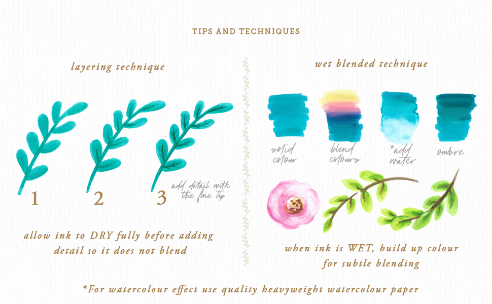 Primrosia dual tip watercolour markers tips and techniques