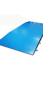 floor scale with ramp