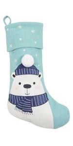 christmas holiday stocking decoration vintage morning tradition traditional polar bear