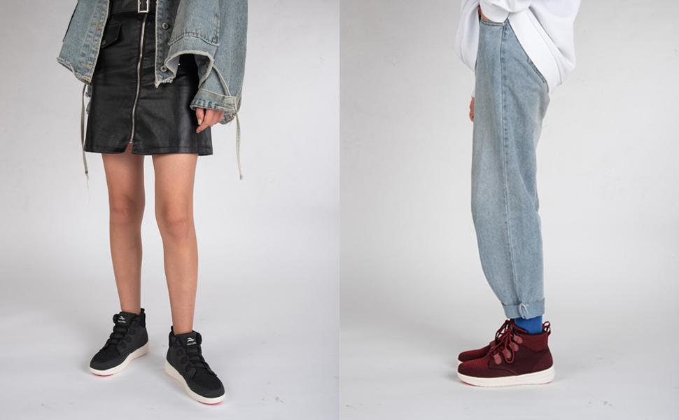 comfortable chunky emo standing day deportivos la gear sole calzado walking boots sale wide width