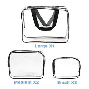 KSIBNW 3 en 1 Estuche de Maquillaje Port/átil Impermeable PVC Transparente Neceser de Viaje con Estuche de Transporte Estuche Organizador de Maquillaje Cosm/ético con Cremallera para Mujeres y Ni/ñas