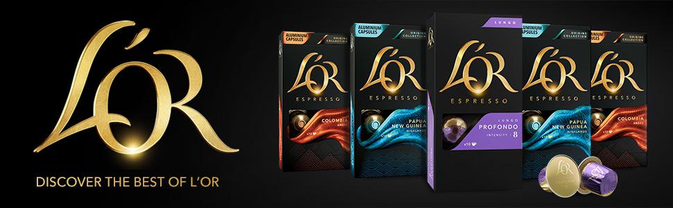 L'Or LOR Espresso Capsules Pods Coffee Nespresso Original Originalline colombia profondo lungo