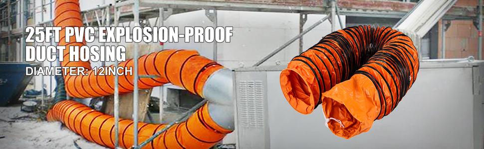 Mophorn Conducto Flexible de PVC Ventilador 7,6 m Di/ámetro de 20,3 cm Manguera de Conducto Flexible de PVC Conducto de Ventilaci/ón Tubo de Manguera de Ventilaci/ón Conductos de Aire de PVC Ign/ífugo