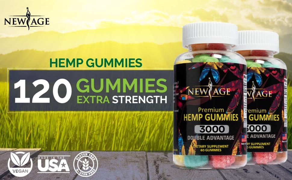 hemp gummies extra strength supplement chill sleep relax mood potent omega 3 6 9