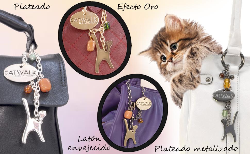 Abalorio de gato incluido con la compra de un bolso de mano