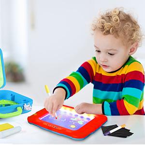 Dibujos Glow Portable Magic Drawing Board Glow Pad para niños Glow Drawing Board Glow Pad