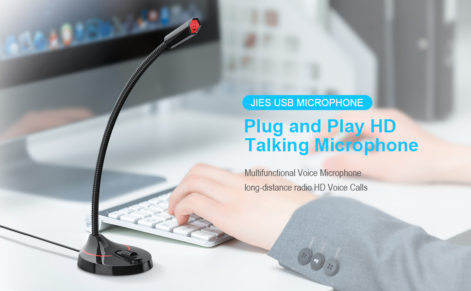 USB microphone for computer podcast microphone gaming microphone  desktop microphone mic