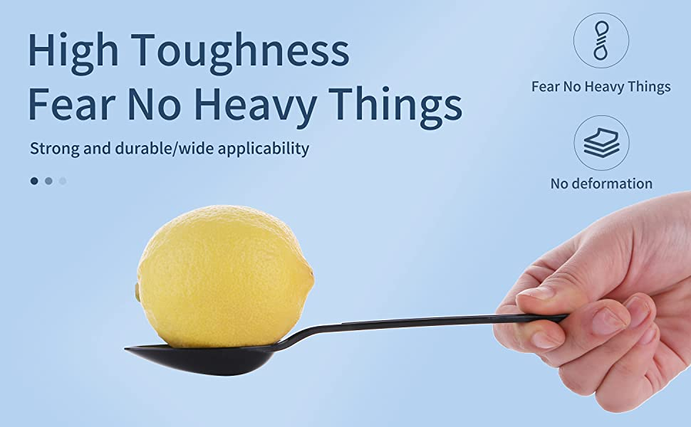 Disposable black fork high toughness fear no heavy things strong and durable wide applicablity