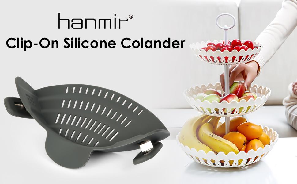 Clip-On Silicone Colander