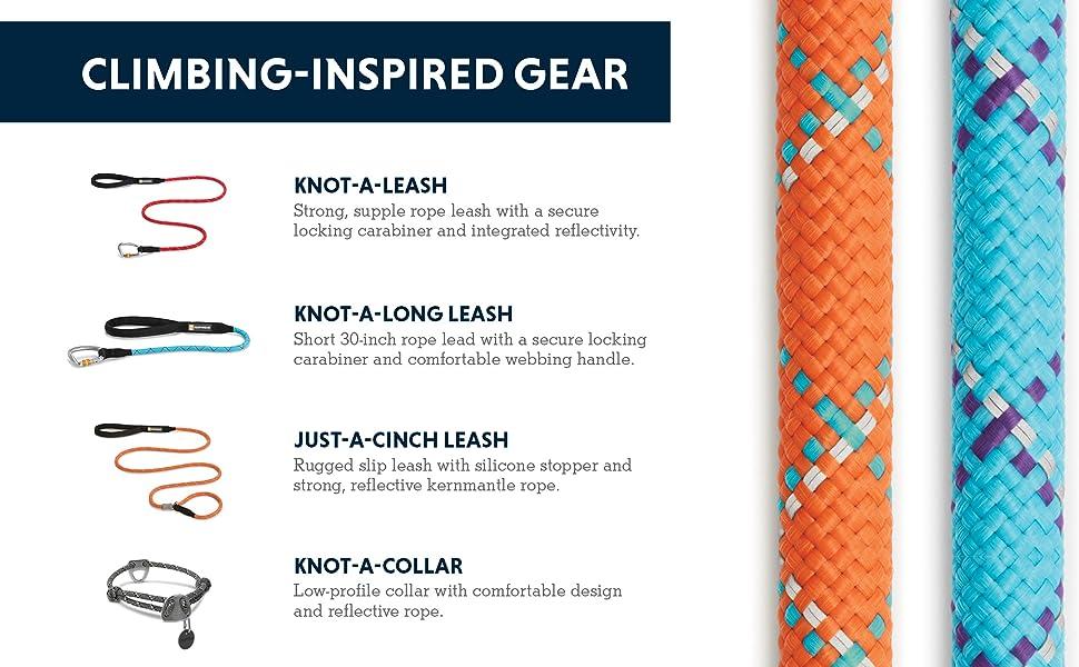 Climbing-inspired gear