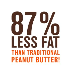 87% less fat tha87% than traditional peanut butter