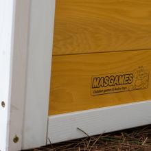 MASGAMES | Casita de Madera Olden | Madera tratada para Exterior | con Banco y buzón | homologada para Uso doméstico |: Amazon.es: Juguetes y juegos