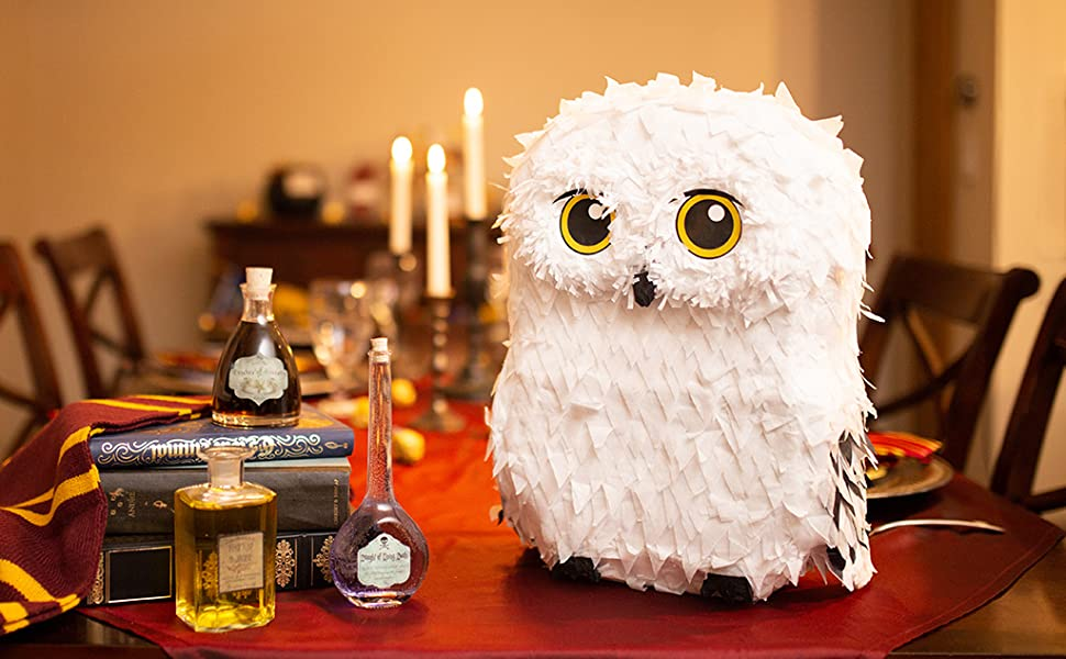 owl pinata, wizard pinata, white owl pinata, animal pinata,