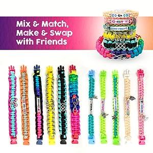 mix match swap with friends BFF friendship bracelet