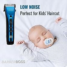 BarberBoss men hair clipper waterproof grooming kit Ceramic Blade Hair clippers kid hair clippers