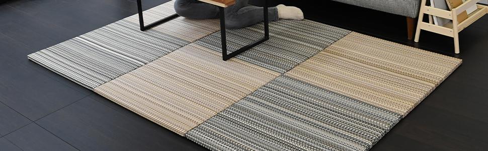 置き畳 ユニット畳 畳マット フローリング畳 琉球畳 市松敷き 半帖 半畳 セキスイ 美草 アースカラー