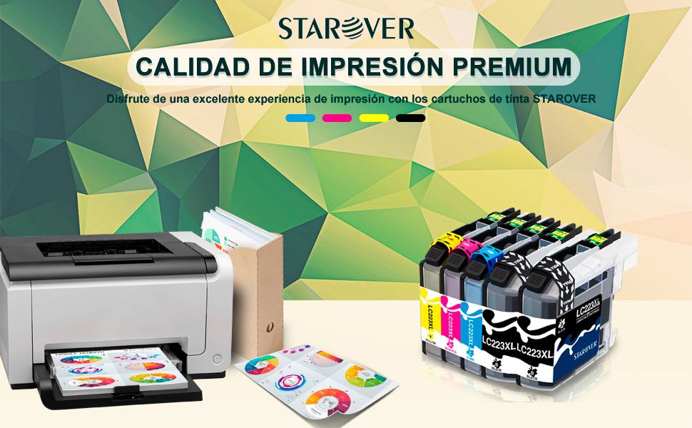 STAROVER 5x LC223 XL LC223XL Cartuchos De Tinta Compatible Para Brother DCP-J4120DW J562DW MFC-J4420DW J4425DW J4620DW J4625DW J5320DW J5620DW ...