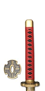 Red Handle with Gold Guard