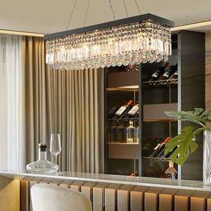 shandelier light crystal decor