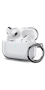 Airpods pro clear case airpod pro protective cover crystal keychain best gift for men women girl kid