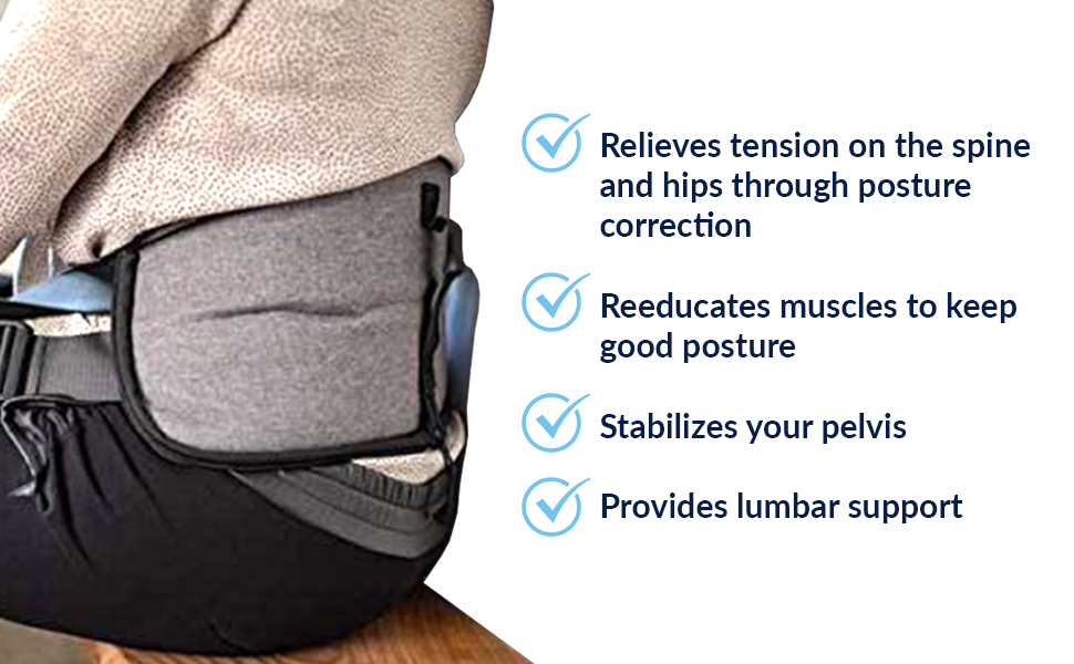 relieves tension spine hips posture correction muscles good posture stabilize pelvis provides lumbar