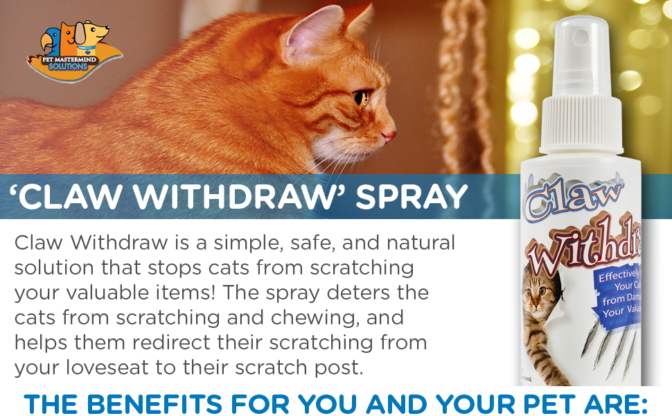 claw withdraw cat scratch deterrent spray
