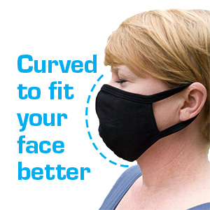 Curved to fit your face better