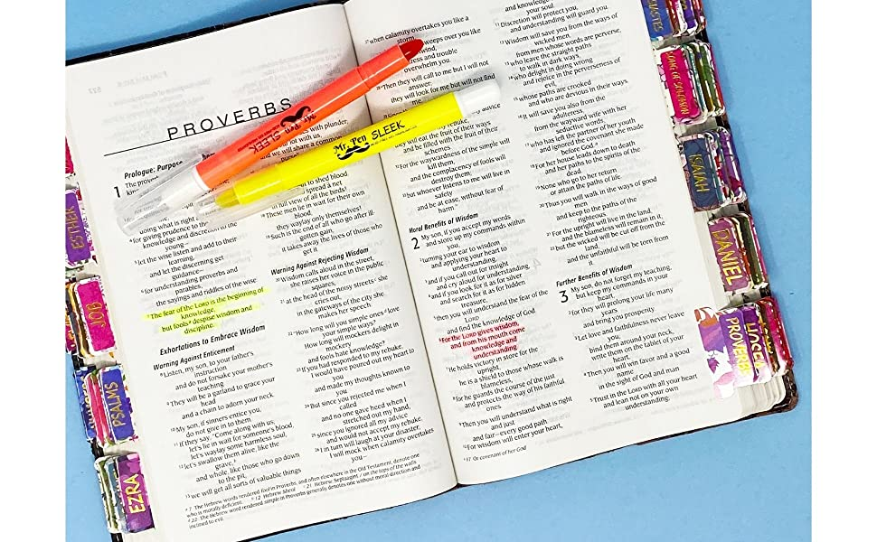 Bible Tabs, 75 Tabs, Laminated, Bible Journaling Supplies, Bible Tabs Old and New Testament