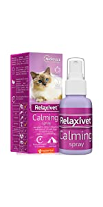 pheromone calming spray for cats and dogs anxiety relief stress prevention natural