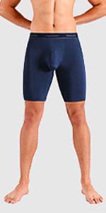 Separatec men's underwear 9.5 inches boxer briefs sport performance cool mesh fabric quick dry fresh