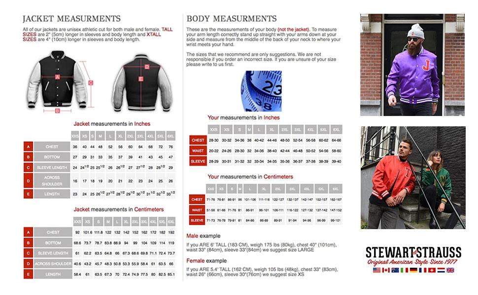 Jacket Shop Measurements