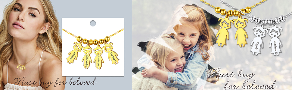 little boys and girls charm necklace