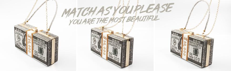 Bilinavy Money Clutch Purses for Women
