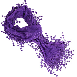 Purple scarf for her birthday gift