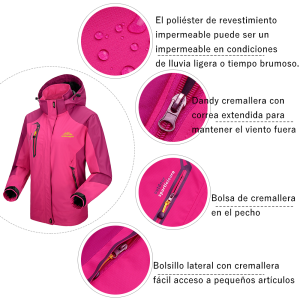 chaqueta mujer impermeable