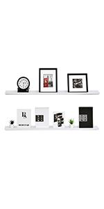 white ledge shelf