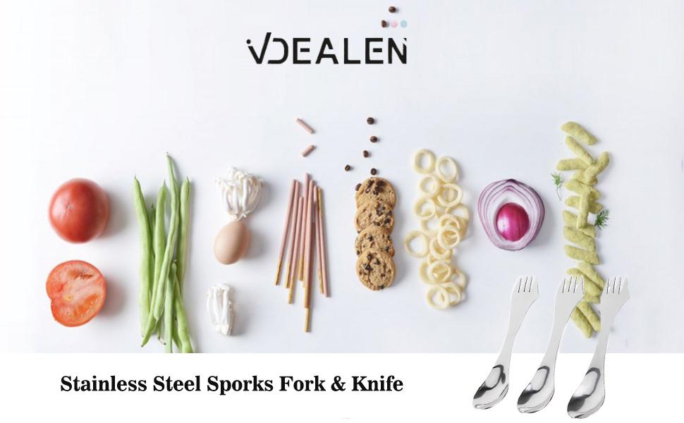 stainless steel spork