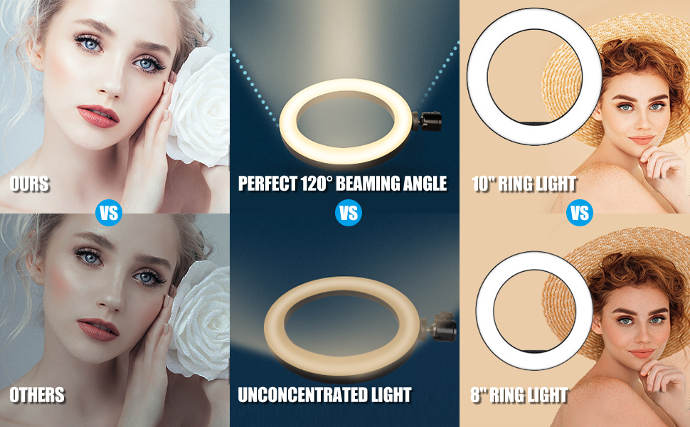 """10"""" ring light with stand"""
