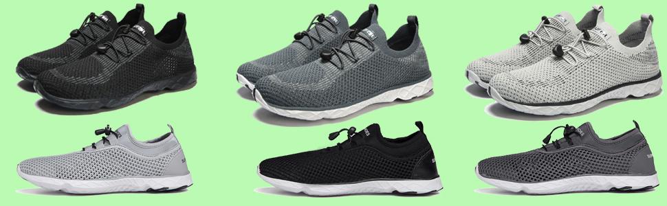 SUNNY Store Womens Quick Drying Aqua Water Shoes Air Mesh Outdoor Walking Sneakers
