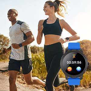 Smart Watch Fitness Tracker Pedometer Watch stopwatch Timer for android phones iphone compatible