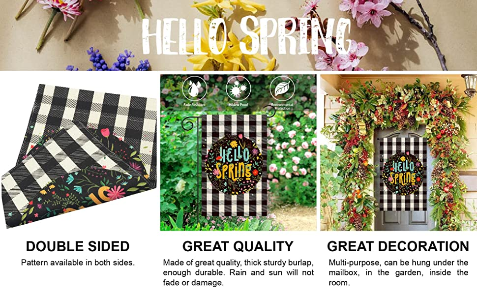 home bunny rabbit hello spring happy St. Patrick's day easter egg gift flowers wreath flag