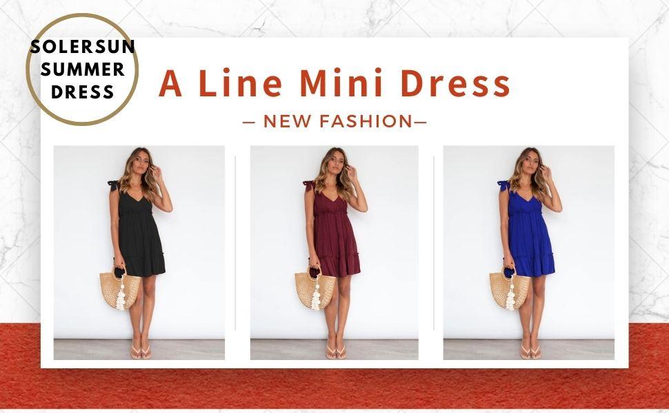 a line swing mini dress